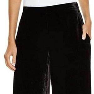 Eileen Fisher BNWT black Velvet wide leg pants XL